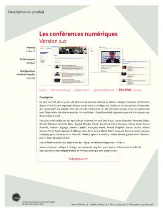 Document : Les conférences numériques