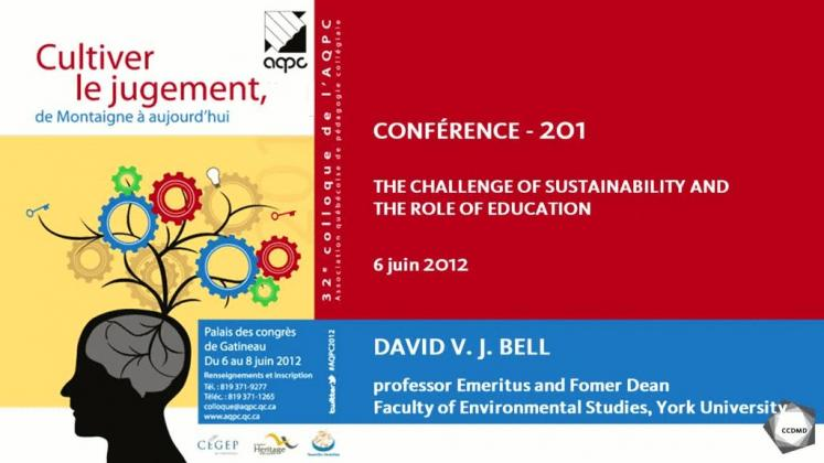 Vidéo : The Challenge of Sustainability and the Role of Education